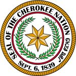 Seal of the Cherokee Nation. Sept. 6, 1839