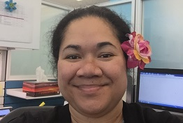 Rosia Curry, Samoan, Program Specialist, Division of Program Operations